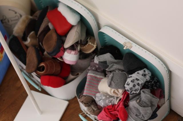 TROP de chaussures et de chaussettes!!!