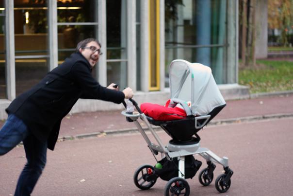 Mais c'est finalement l'Orbit Baby qui l'a entraîné en roue libre !